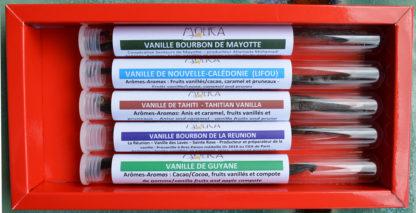Coffret de 5 vanilles françaises différentes