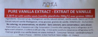Composotion extrait de vanille de Madagascar avec graines