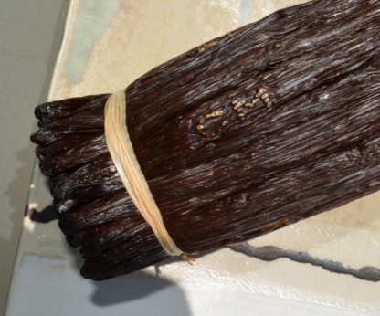 Marquage sur gousses de vanille de La Réunion