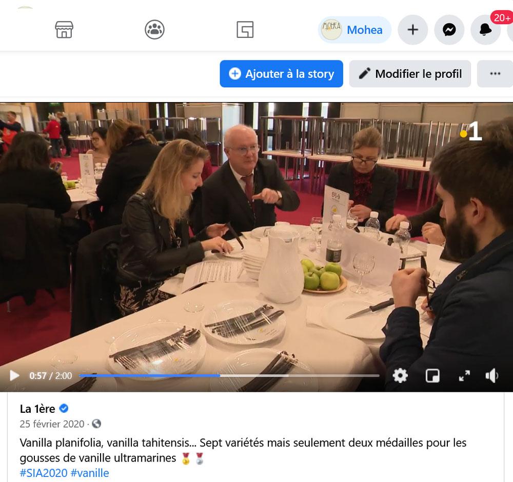 Reportage La 1ère sur le CGA 2020 des vanilles françaises