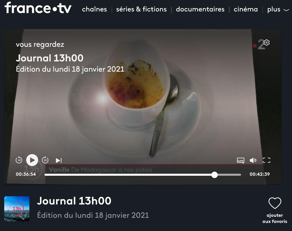 Reporatage de France 2 sur la vanille